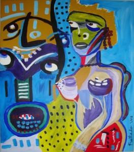Femme danse avec imagination